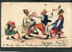 CPA - Illustration P. NERI - Bagarre - Baraka ! Ci Toi Qui Tape, Ci L'autre Qui Son Bouffi Li Cacahuettes !!