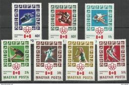 """Ungarn 3125-3131 """" 7 Briefmarken Zur Olympiade 76, Satz Kpl."""" Postfrisch Mi.:3,50 €"""