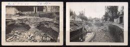 17 PHOTOS NUITS SAINT GEORGES (COTE D'OR) - DESTRUCTION DES PONTS PAR LES ALLEMANDS EN SEPT 1944 - ANOTATION AU VERSO.