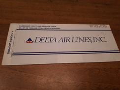 Old Aviation Ticket - DELTA Airlines - Billetes De Transporte