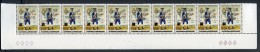 Sao Tome And Principe, 1977, UPU Centenary, 5 Inverted Black Overprint Pairs From Bottom Of Sheet, Michel 482-483a - Sao Tome Et Principe