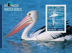 MDB-BK8-476 MINT PF/MNH ¤ UGANDA 2014 BLOCK  ¤ BIRDS OF THE WORLD OISEAUX BIRDS AVES VOGELS VÖGEL