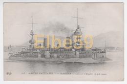 Marine Nationale, Cuirassé D'Escadre Masséna, Neuve - Guerra