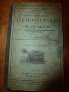 1885 Notions élémentaires D'AGRICULTURE Et D'HORTICULTURE Par A. Barot - Livres, BD, Revues