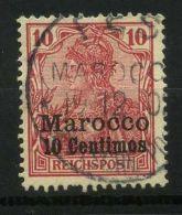 MAROC ( POSTE ) :Y&T N°  9  TIMBRE  BIEN  OBLITERE , A  VOIR .