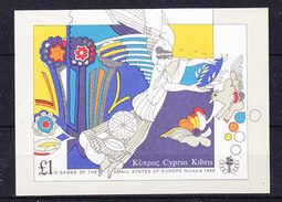 Cyprus 1989 Games Of The Small States Of Europe M/s ** Mnh (35795)