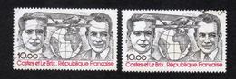 Poste Aérienne N° 55, 1 Gris Et 1 Noir P A,Variété Variétés - Varieteiten: 1980-89 Afgestempeld