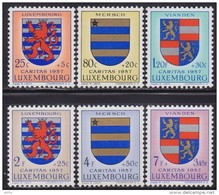 Luxembourg 1957 Coat Of Arms Of Luxembourg, MNH (**) Michel 575-580 - Luxembourg