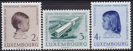 Luxembourg 1957 Prince Jean And Princess Joséphine Charlotte, MNH (**) Michel 569-571 - Luxembourg