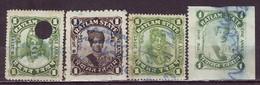 India-Ratlam State 4 Diff. 1 Anna Court Fee/Revenue Type 17,18,19 &21 #DF263