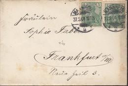 DR 55 MeF Auf Brief Mit Inhalt Mit Stempel: Mannheim 27.3.1901 - Germany