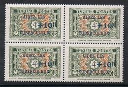TUNISIE N°325 N**  En Bloc De 4 - Unused Stamps