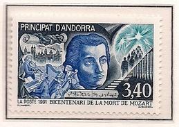 ANDORRA FRANCESA 1991 - 200 AÑOS DE LA MUERTE DE MOZART - YVERT Nº 408** - Andorre Français