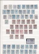 LOT EM. 1865  : N 2 Oblitération Anormale Cercle ,  Ambulant EST  IV  O. 3  N° 19 LP 31 Bastogne +10 ....