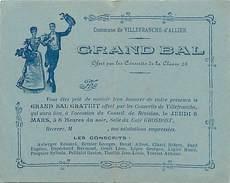 Ref U97 -programme 2 Volets : 10,5cms X 7cms Chaque Volet -bal Des Conscrits 1923- Villefranche Sur Allier - Bon Etat  - - Programs