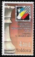 MOLDOVA 2005 Championnat Européen Individuel Feminin Echecs Cisinau, 1 Val Mnh