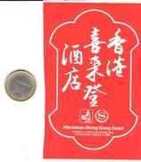 ETIQUETA DE HOTEL  -  SHERATON HONG KONG HOTEL  -HONG KONG  -CHINA - Hotel Labels