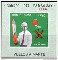 ESPACE - PARAGUAY -  BLOC  N°135  **  NON DENTELE   (1969) MARINER 7