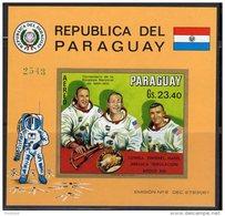 ESPACE - PARAGUAY -  BLOC  N°146  **   NON DENTELE   (1970) APOLLO 13 / ASTRONAUTES