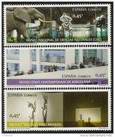 2015-ED. 5034 A 5036 SERIE COMPLETA- Museos. MNCC, MACBA E IVAM -NUEVOS