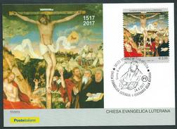 Italia, Italy 2017; Chiesa Evangelica Luterana, Quinto Centenario Della Riforma. Maximum Card E F.D.C.