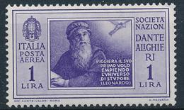 1932 ITALIA REGNO DANTE ALIGHIERI POSTA AEREA LIRE 1 MLH * - VV07A
