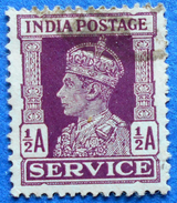 INDIA OFFICIAL SERVICE 1/2 A 1939 KING GEORGE VI - USED