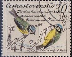 PIA - CECOSLOVACCHIA  - 1959 : Uccelli : Tit Blu  -  (Yv 1047 )