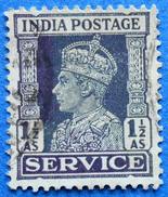 INDIA OFFICIAL SERVICE 1 1/2 As 1939 KING GEORGE VI - USED
