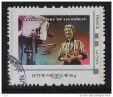 Timbre Personnalise Oblitere - Lettre Prioritaire - Jacqueline Caurat - Antenne Dans 30 Secondes