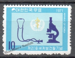South Korea 1971 Yvert 634, 20th International Day Of Health - MNH - Corea Del Sur