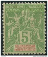 Madagascar (1900) N 42A * (charniere)