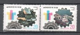 South Korea 1976 Yvert 938-39, 4th Quinquennal Economic Development  Plan - MNH - Korea (Zuid)