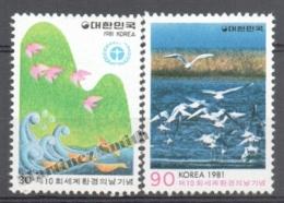 South Korea 1981 Yvert 1105-06, 10th Environment World Day - MNH - Korea (Süd-)