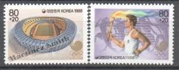South Korea 1988 Yvert 1406-07, Seoul Headquarters Of The 1988 Olympic Games - MNH - Corée Du Sud
