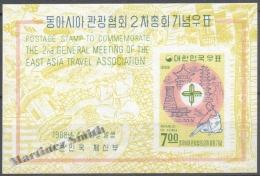 South Korea 1968 Yvert Block BF 152, 2nd General Congress Of The Tourism Association - Miniature Sheet - MNH - Korea, South