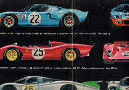 X POSTER 25X40 FERRARI 312 FORD GT40 PORSCHE 917 RETRO  LOLA T70 ALFA ROMEO T33 MATRA 630/650 ALL 4R - Altre Collezioni