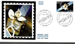 FRANCE  FDC  1984  Espace Telecom Satellite