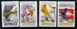 B0671 TANZANIA 1988, SG 576-9 Winter Olympic Games, Calgary,  MNH