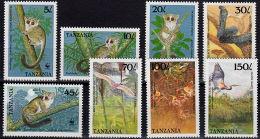 E0081 TANZANIA 1989, SG 642-6 Flora & Fauna, Animals, Bushbaby,  MNH
