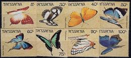 F0050 TANZANIA 1988, SG 597-604 Butterflies  MNH