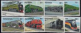 F0128 TANZANIA 1989, SG 668-75  Steam Railway Locomotives,  MNH