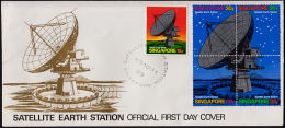 J0027 SINGAPORE 1971, SG 160-4 Opening Of Satellite Earth Station,  FDC