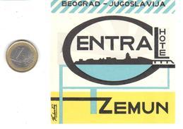 ETIQUETA DE HOTEL  - ENTRA HOTEL  - BEOGRAD -YUGOSLAVIA (JUCOSLAVIJA) - Hotel Labels