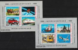 1988 - INTEREUROPA  Mi Bloc 239/240 Et Yv 193A/193B MNH - 1948-.... Republiken