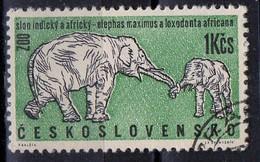 PIA - CECOSLOVACCHIA  - 1962 : 30° Anniversario Dello Zoo Di Praga : Elefanti  -  (Yv 1217 )