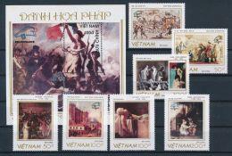 Vietnam Viet Nam MNH Perf Stamps & Souvenir Sheet 1989 : World Philatelic Exhibition / Art Painting (Ms574)
