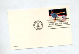 Carte Postale 14 C Jeu Olympique Patinage Fdc