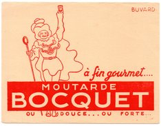 Buvard Moutarde Bocquet. - Moutardes