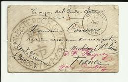 """Enveloppe - Voyagée - Troupe Indochine - Cachet """"Commandant Des Postes """" De Cho-Ra - Tonkin - Tuyen - Quang -Philatélie-"""